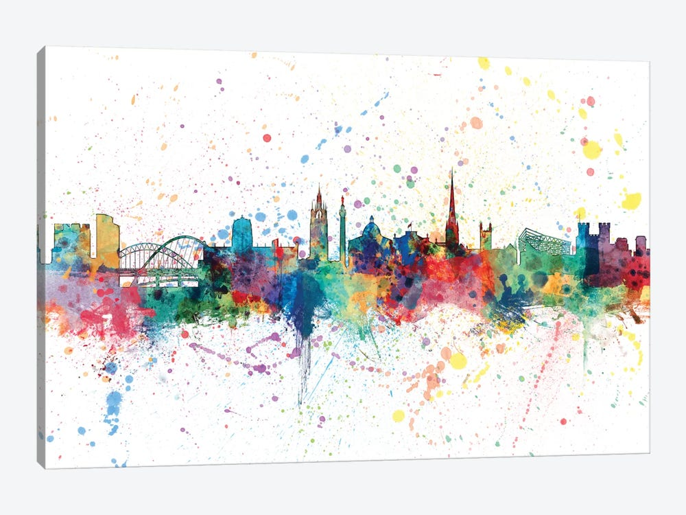 Newcastle, England, United Kingdom by Michael Tompsett 1-piece Canvas Print