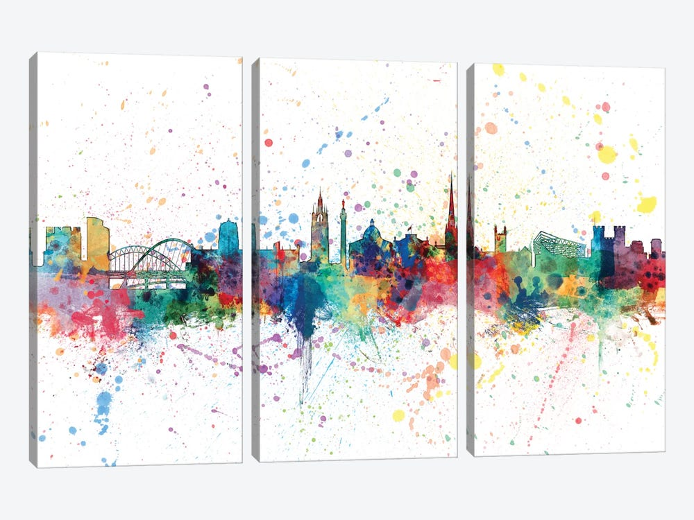 Newcastle, England, United Kingdom by Michael Tompsett 3-piece Canvas Print