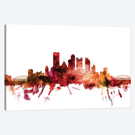 Pittsburgh, Pennsylvania Skyline Canvas Print #MTO1530} by Michael Tompsett Canvas Wall Art