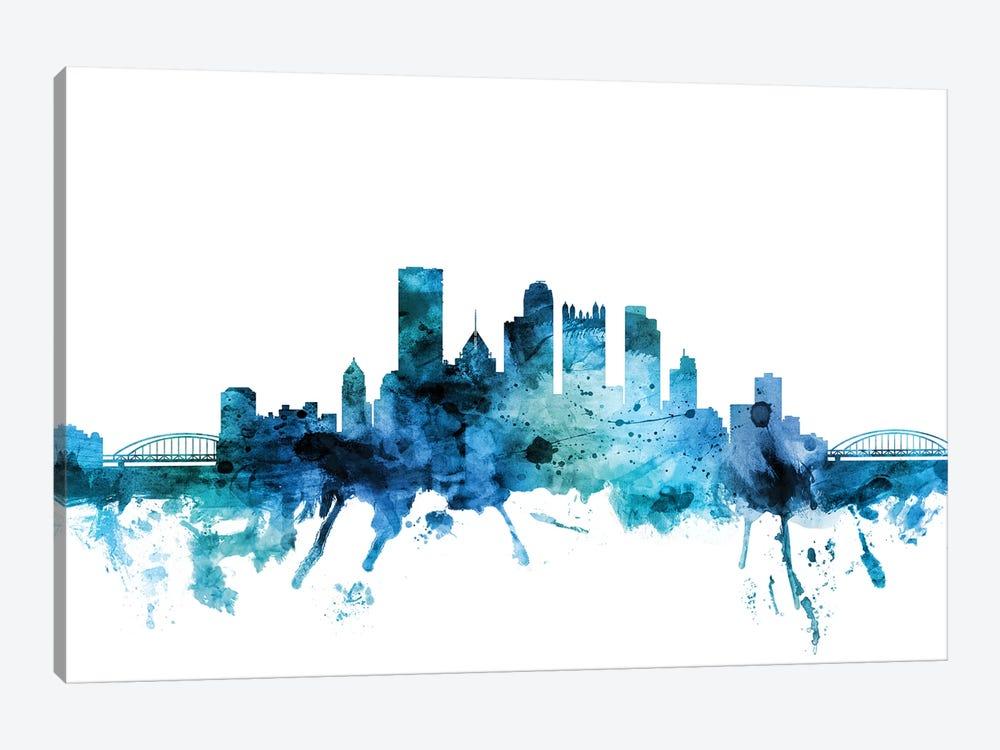 Pittsburgh, Pennsylvania Skyline by Michael Tompsett 1-piece Canvas Art Print