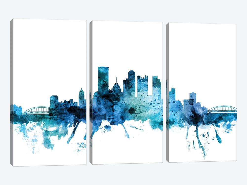 Pittsburgh, Pennsylvania Skyline by Michael Tompsett 3-piece Canvas Art Print
