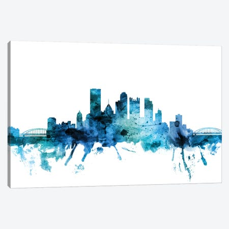 Pittsburgh, Pennsylvania Skyline Canvas Print #MTO1531} by Michael Tompsett Canvas Artwork