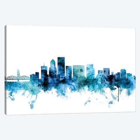 Portland, Oregon Skyline Canvas Print #MTO1537} by Michael Tompsett Canvas Print