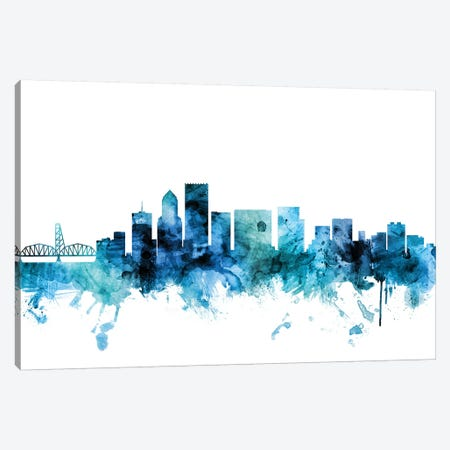 Portland, Oregon Skyline Canvas Print #MTO1537} by Michael Tompsett Canvas Print