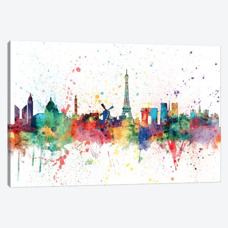 Paris, France Canvas Print #MTO153} by Michael Tompsett Canvas Print
