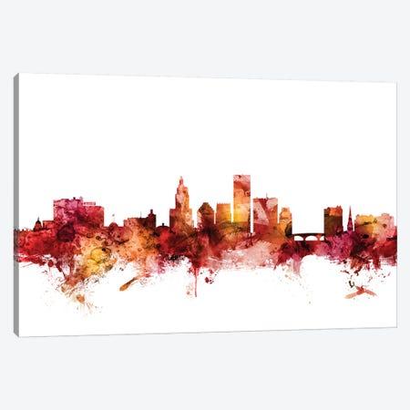 Providence, Rhode Island Skyline Canvas Print #MTO1544} by Michael Tompsett Canvas Artwork