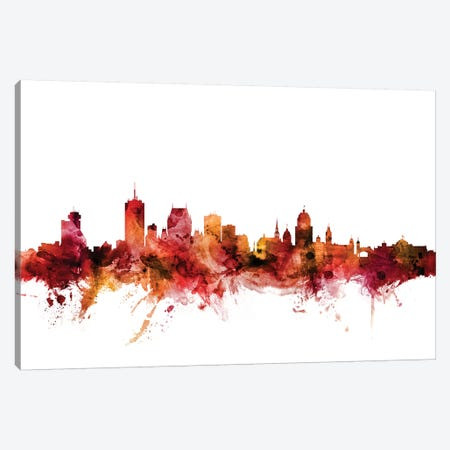 Quebec, Canada Skyline Canvas Print #MTO1546} by Michael Tompsett Canvas Artwork