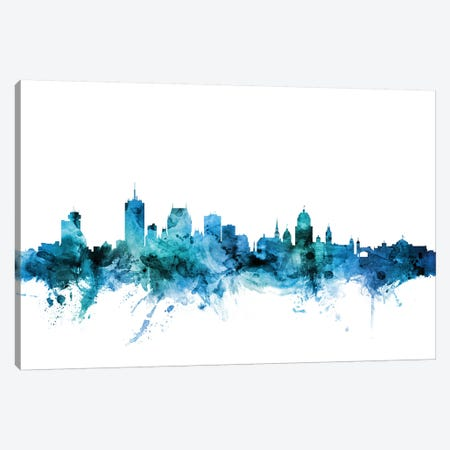 Quebec, Canada Skyline Canvas Print #MTO1547} by Michael Tompsett Canvas Art
