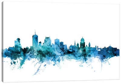 Quebec, Canada Skyline Canvas Art Print