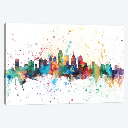 Philadelphia, Pennsylvania, USA Canvas Print #MTO154} by Michael Tompsett Canvas Artwork