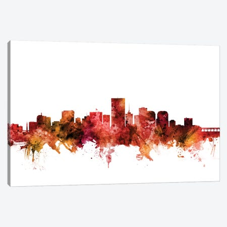 Richmond, Virginia Skyline Canvas Print #MTO1550} by Michael Tompsett Canvas Art