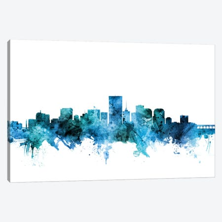 Richmond, Virginia Skyline Canvas Print #MTO1551} by Michael Tompsett Canvas Wall Art