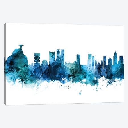 Rio de Janeiro, Brazil Skyline Canvas Print #MTO1552} by Michael Tompsett Canvas Artwork