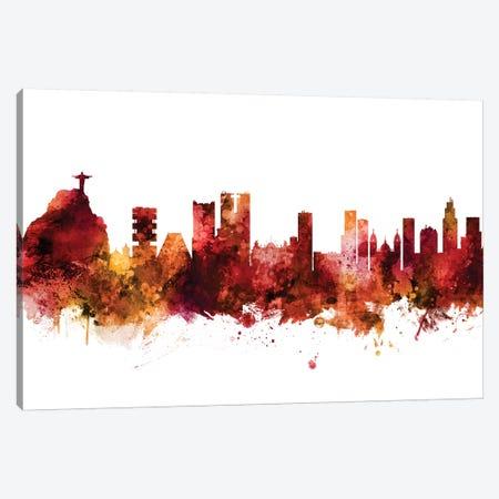 Rio de Janeiro, Brazil Skyline Canvas Print #MTO1553} by Michael Tompsett Canvas Wall Art