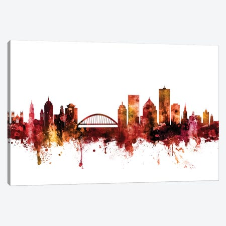 Rochester, New York Skyline Canvas Print #MTO1554} by Michael Tompsett Art Print