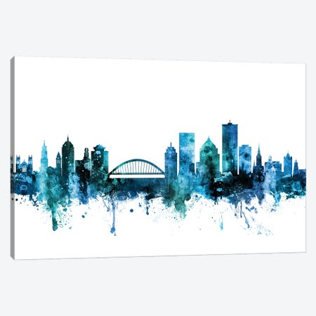 Rochester, New York Skyline Canvas Print #MTO1555} by Michael Tompsett Canvas Art Print