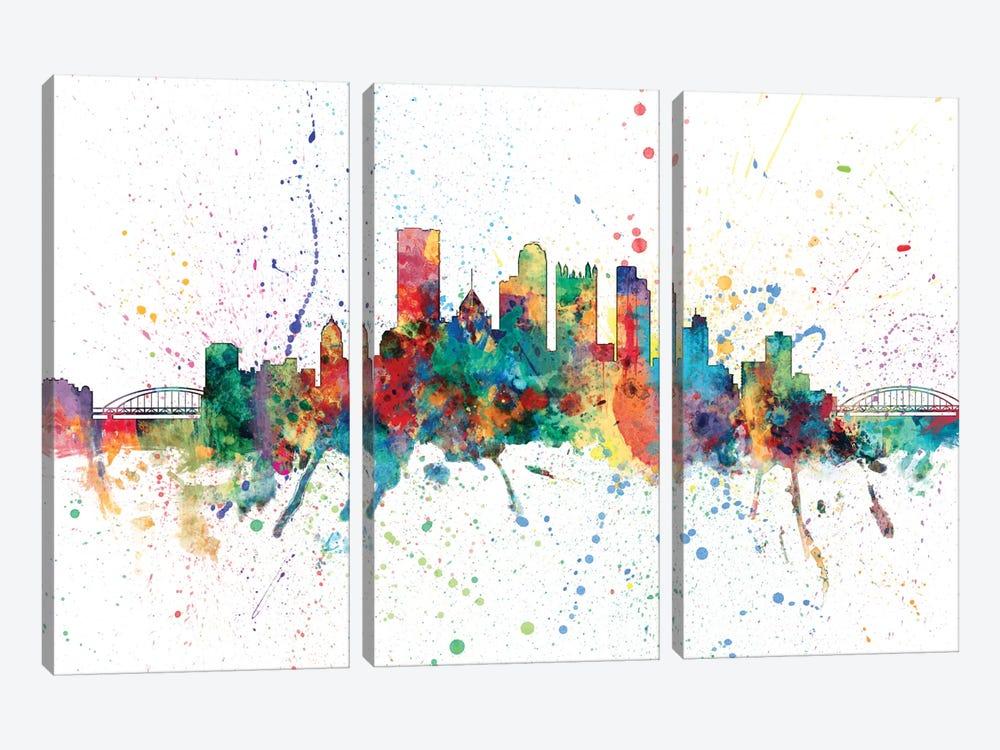 Pittsburgh, Pennsylvania, USA by Michael Tompsett 3-piece Canvas Wall Art