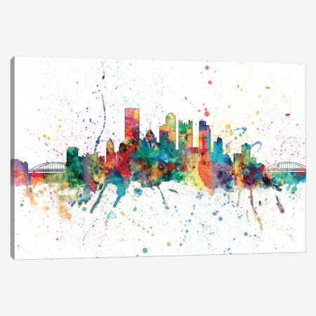 Pittsburgh, Pennsylvania, USA Canvas Print #MTO155} by Michael Tompsett Canvas Wall Art
