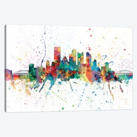 Pittsburgh, Pennsylvania, USA Canvas Print #MTO155} by Michael Tompsett Canvas Wall Art
