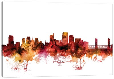 Sacramento, California Skyline Canvas Art Print