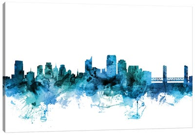Sacramento, California Skyline Canvas Art Print