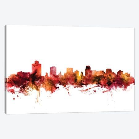 Salt Lake City, Utah Skyline Canvas Print #MTO1564} by Michael Tompsett Canvas Art