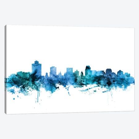 Salt Lake City, Utah Skyline Canvas Print #MTO1565} by Michael Tompsett Canvas Wall Art