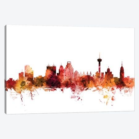 San Antonio, Texas Skyline Canvas Print #MTO1568} by Michael Tompsett Art Print
