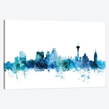 San Antonio, Texas Skyline Canvas Print #MTO1569} by Michael Tompsett Canvas Art Print