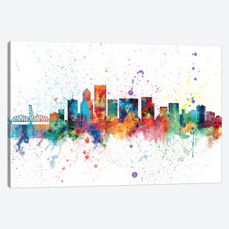 Portland, Oregon, USA Canvas Print #MTO156} by Michael Tompsett Canvas Wall Art