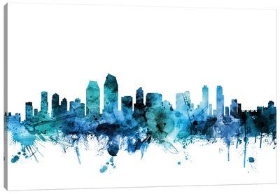 San Diego, California Skyline Canvas Art Print