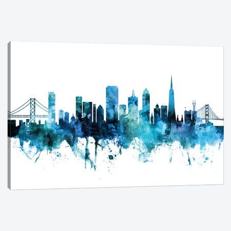 San Francisco, California Skyline Canvas Print #MTO1572} by Michael Tompsett Canvas Artwork