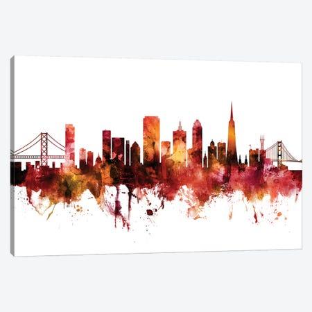 San Francisco, California Skyline Canvas Print #MTO1573} by Michael Tompsett Canvas Artwork