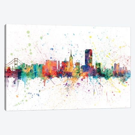 San Francisco, California, USA Canvas Print #MTO157} by Michael Tompsett Canvas Artwork