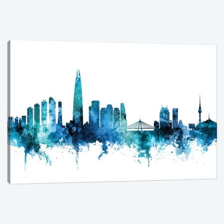 Seoul, South Korea Skyline Canvas Print #MTO1583} by Michael Tompsett Canvas Print