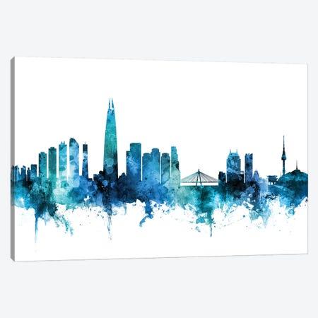 Seoul, South Korea Skyline Canvas Print #MTO1583} by Michael Tompsett Canvas Print
