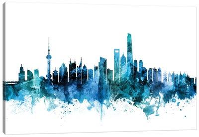 Shanghai, China Skyline Canvas Art Print