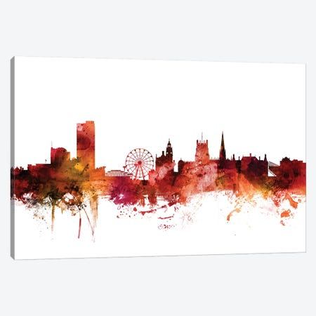 Sheffield, England Skyline Canvas Print #MTO1586} by Michael Tompsett Canvas Wall Art