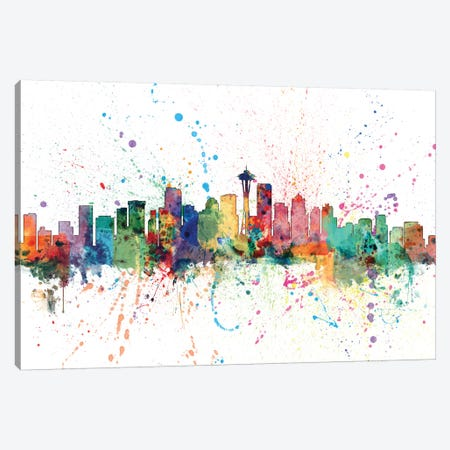Seattle, Washington, USA Canvas Print #MTO158} by Michael Tompsett Canvas Art Print