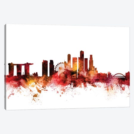 Singapore Skyline Canvas Print #MTO1590} by Michael Tompsett Canvas Art