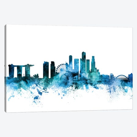 Singapore Skyline Canvas Print #MTO1591} by Michael Tompsett Canvas Artwork