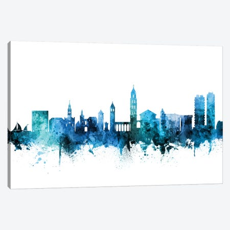 Split, Croatia Skyline Canvas Print #MTO1595} by Michael Tompsett Canvas Art Print