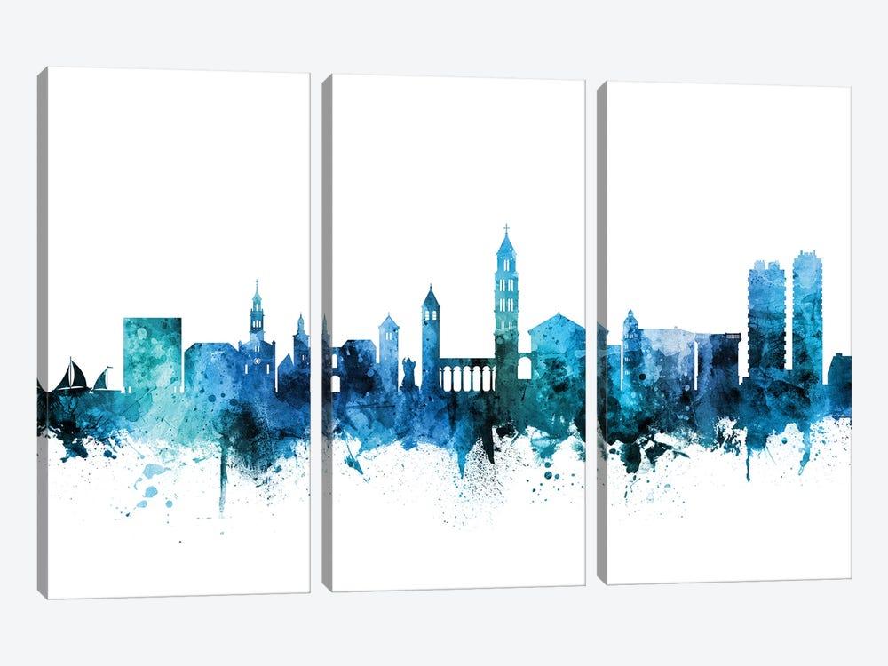 Split, Croatia Skyline by Michael Tompsett 3-piece Canvas Art Print