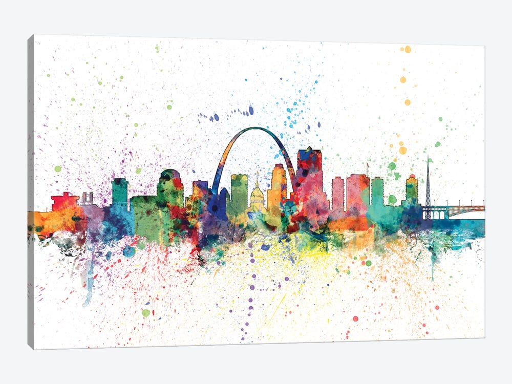 St. Louis, Missouri, USA by Michael Tompsett 1-piece Canvas Artwork