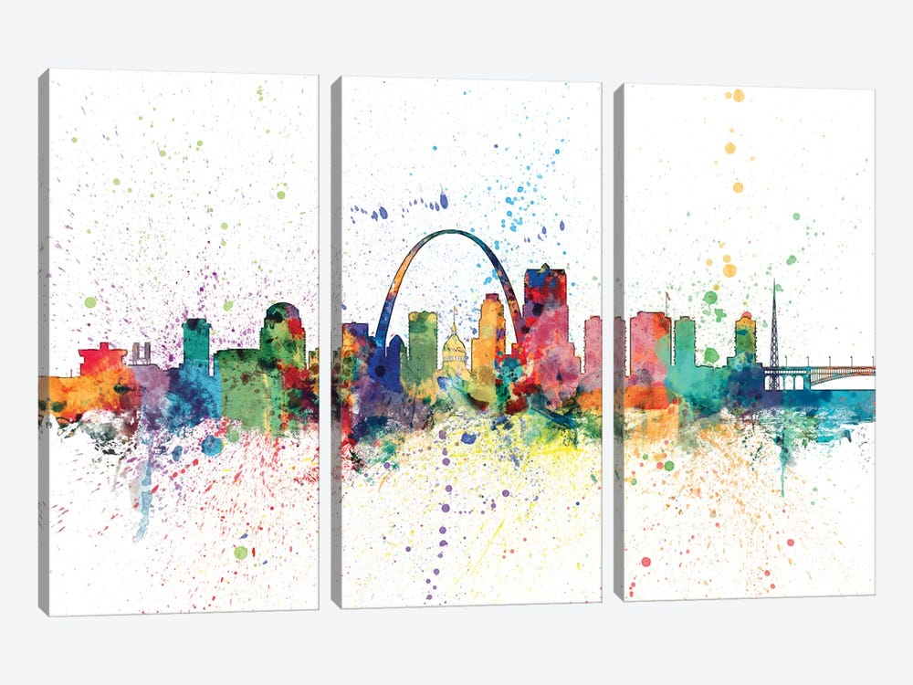 St. Louis, Missouri, USA by Michael Tompsett 3-piece Canvas Art