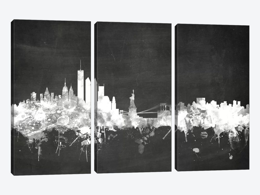 New York City, New York, USA by Michael Tompsett 3-piece Canvas Print