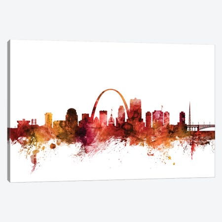 St. Louis, Missouri Skyline Canvas Print #MTO1600} by Michael Tompsett Canvas Wall Art