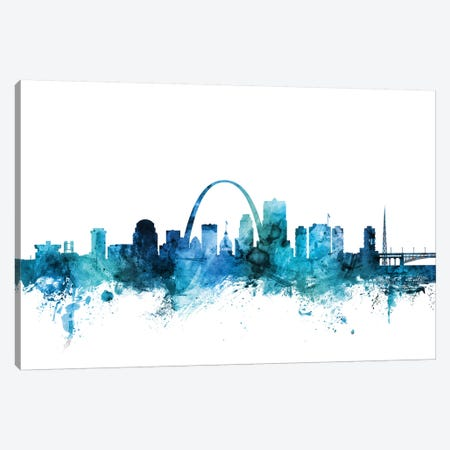 St. Louis, Missouri Skyline Canvas Print #MTO1601} by Michael Tompsett Canvas Wall Art