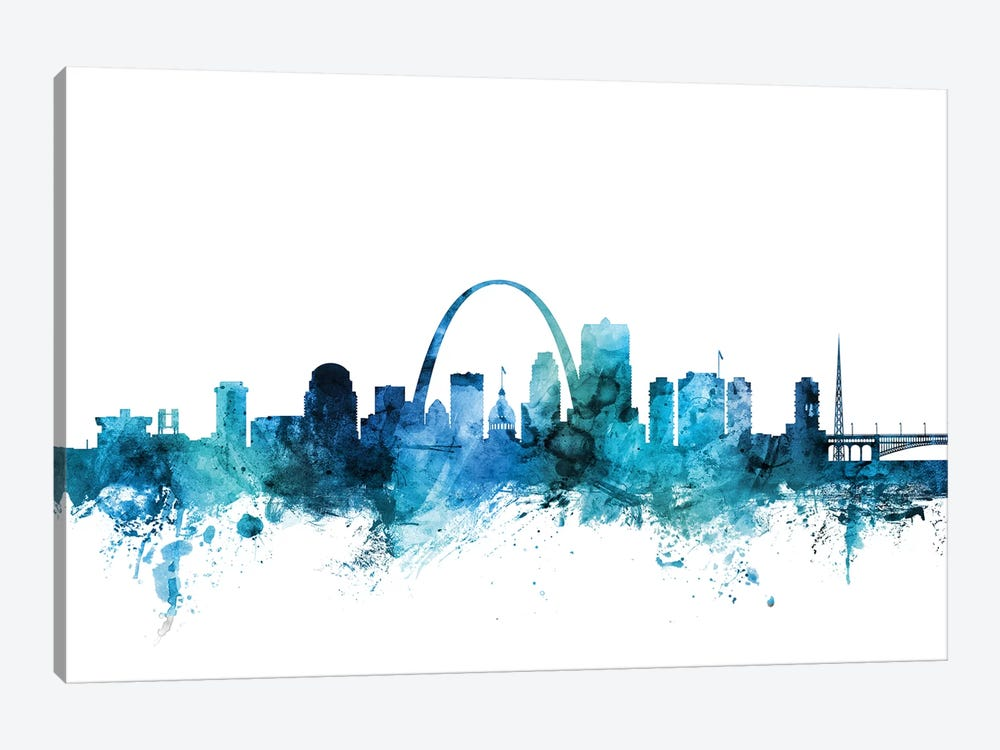 St. Louis, Missouri Skyline by Michael Tompsett 1-piece Canvas Wall Art