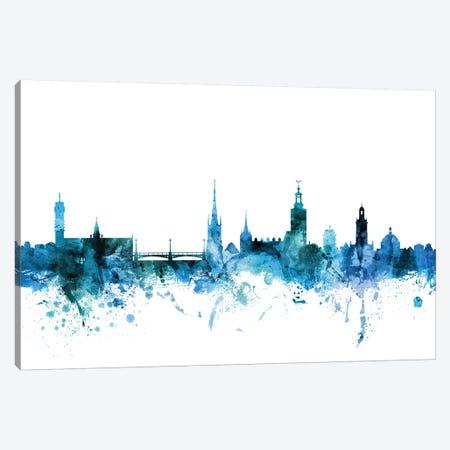 Stockholm, Sweden Skyline Canvas Print #MTO1605} by Michael Tompsett Art Print
